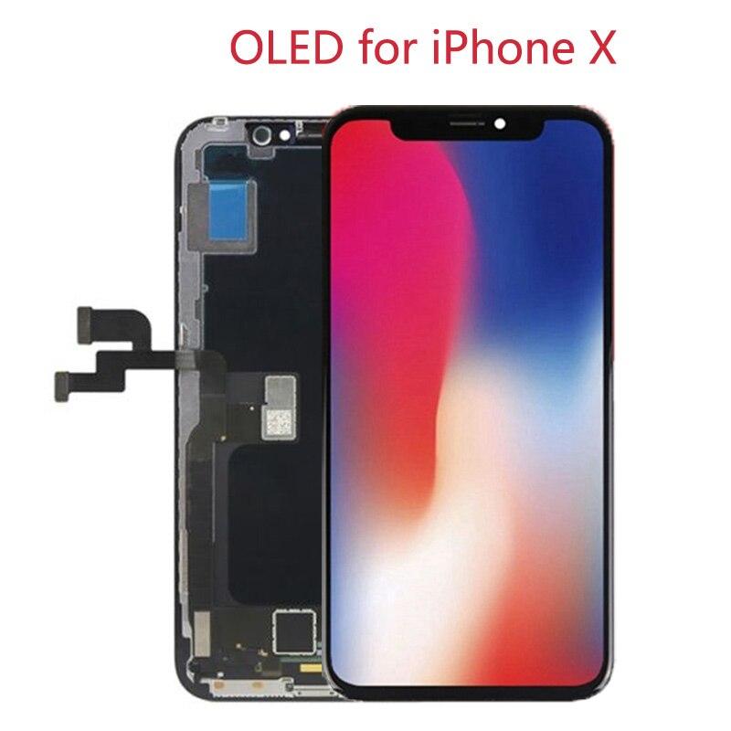 D'origine 1:1 HD LCD de Remplacement pour iPhone X LCD Pantalla Affichage Écran + 3D Tactile Digitizer Libre de DHL