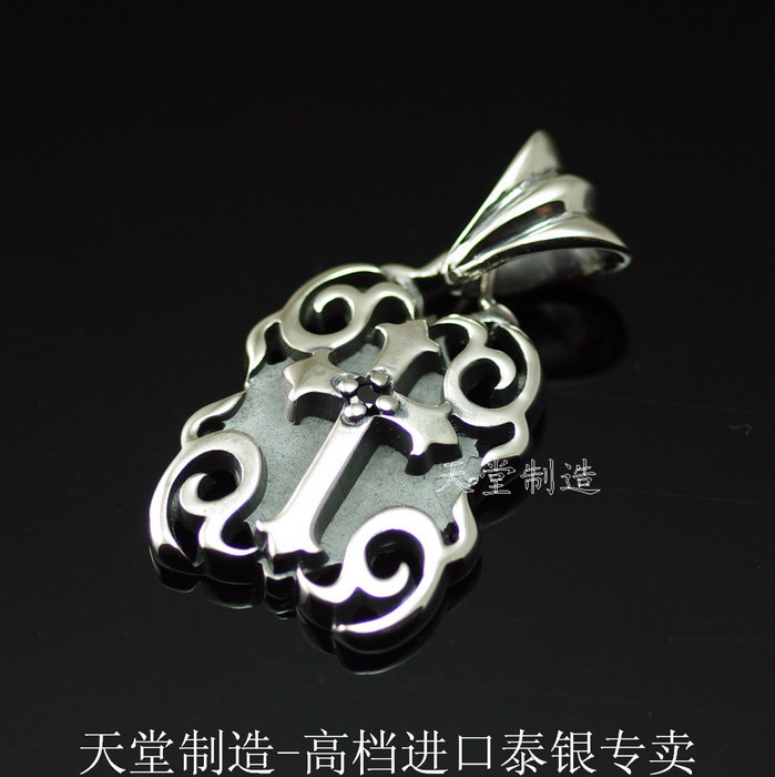 The import of silver, fine silver cross pendantThe import of silver, fine silver cross pendant