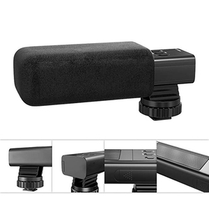 Camera Video Microphone High Sensitivity Interview Microphone Batteries Powered Professional Mic