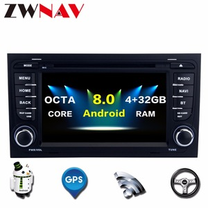 """7""""The Newest Octa Core Android 8.0 Car DVD Player Auto Stereo Car Radio GPS Navigation Hifi Music For Audi A4 S4 RS4 2002-2008"""