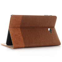 Cross Pattern Book Cover Card Holder Folio Stand PU Leather Case For Samsung Galaxy Tab A