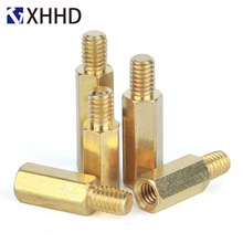 M4 Single Hex Brass Male Female Standoff Mount Hexagon Threaded Pillar PCB Computer PC Motherboard Spacer Bolt Spacer M4xL+6mm m2 brass male female standoff pillar mount threaded pcb motherboard pc computer round spacer hollow bolt screw long nut