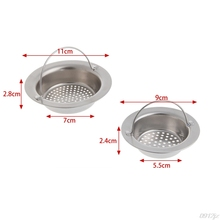 Kitchen Sink Strainer Waste Plug Drain Stopper Filter Basket Stainless Steel New C90A New Drop ship