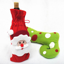 1 Piece Red Wine Bottle Cover Bags Christmas Dinner Table Decoration Christmas Decor Suppliers For Christmas Party