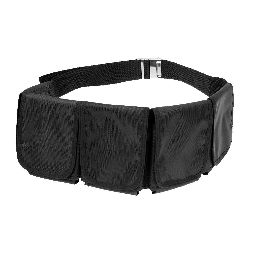 Scuba Diving Dive Snorkeling 5 Pocket Weight Belt Webbing Storage Bag Strap