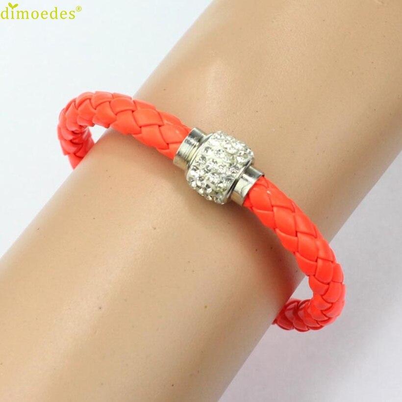 Charm-Bracelets Wristband Rhinestone-Buckle Magnetic Bangle Women for 1PC Wrap Erkek