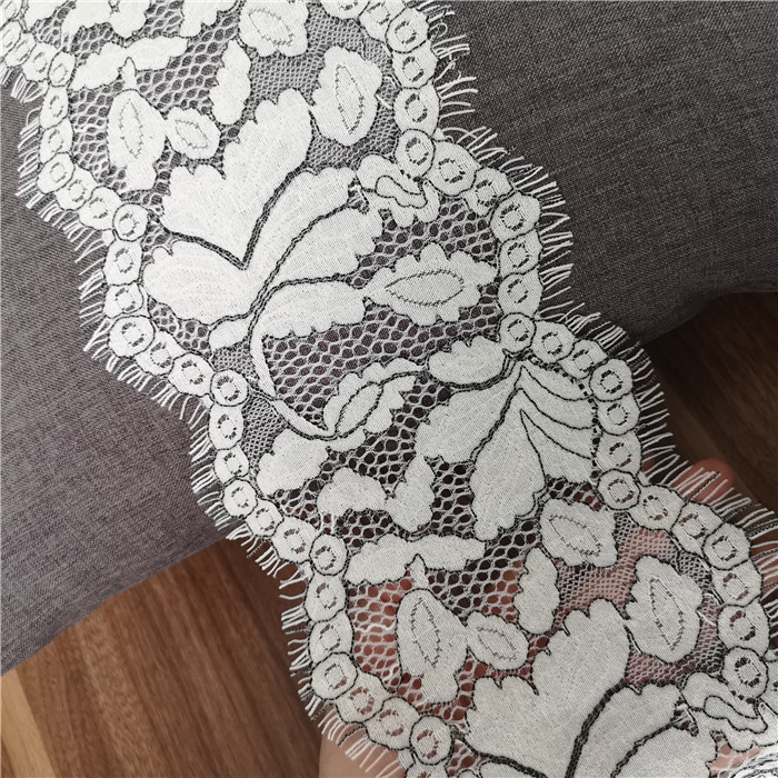 15meters/lot Fine Cotton Ivory Embroidery Eyelash Lace