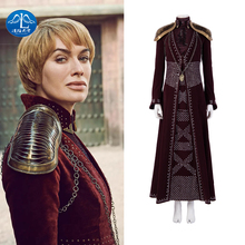 Manluyunxiao Game of Thrones  Costume Cersei Lannister Cosplay Queen Adult Custom Dress Halloween Christmas  Women майка print bar game of thrones lannister