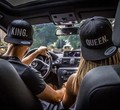new Hot Sale KING QUEEN Embroidery Snapback Hat Acrylic Men Women Couple Baseball Cap Gifts Fashion Hip-hop Sport Caps