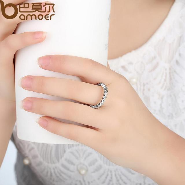 Sterling Silver Alluring Princess Stackable Ring