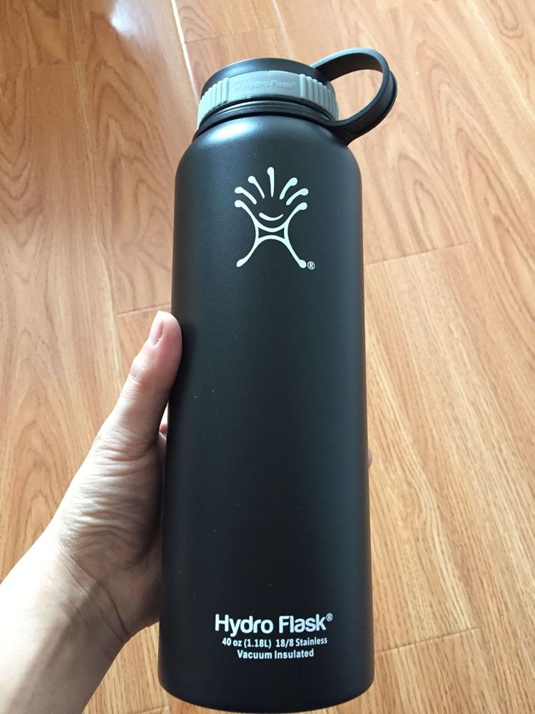 e169b5af8e Hydro Flask Bottle 40OZ Insulated Stainless Steel Water Bottle Wide Mouth  Set of 2PCS Hydroflask Bottle 1 Black+ 1 Blue-in Water Bottles from Home &  Garden ...