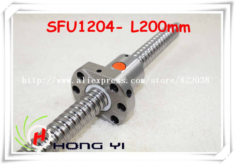 1pcs Ball screw SFU1204 - L200mm+ 1pcs Ballscrew Ballnut for CNC and BK/BF10 standard processing ballscrew sfu1610 l200mm ball screws with ballnut diameter 16mm lead 10mm