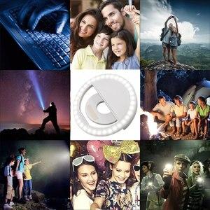 Image 5 - חדש USB תשלום Selfie נייד פלאש Led מצלמה טלפון צילום טבעת אור שיפור צילום למחשב iPhone Smartphone