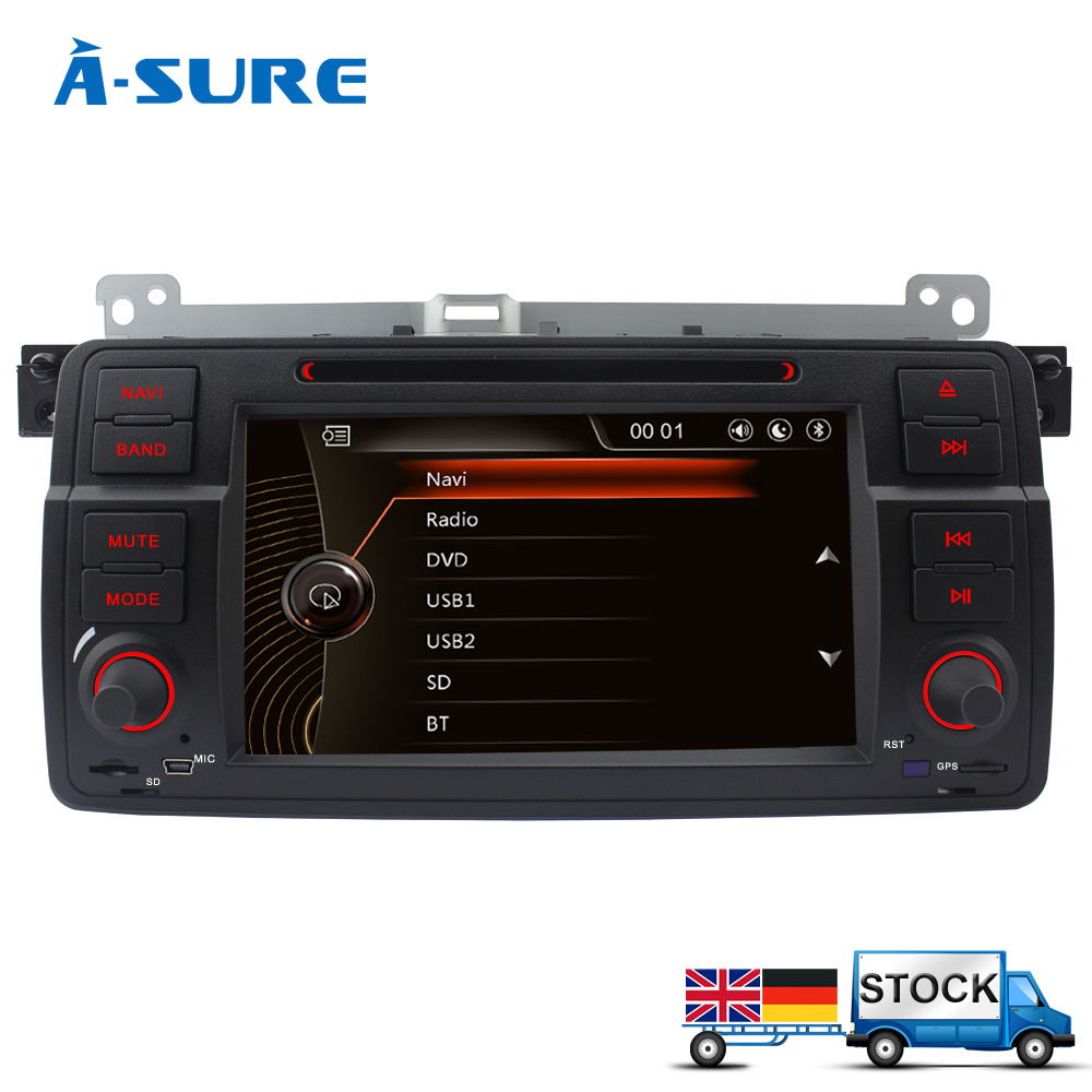 a sure 7 39 39 dvd rds radio gps head unit for bmw e46 rover. Black Bedroom Furniture Sets. Home Design Ideas