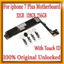 Фабрика открыл материнская плата для Apple iphone 7 Plus с/без Touch ID, без iCloud для iphone 7 Plus P 100% оригинал