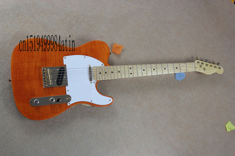 wholesale new style telecaster guitar American standard tele electric guitar with Golden yellow