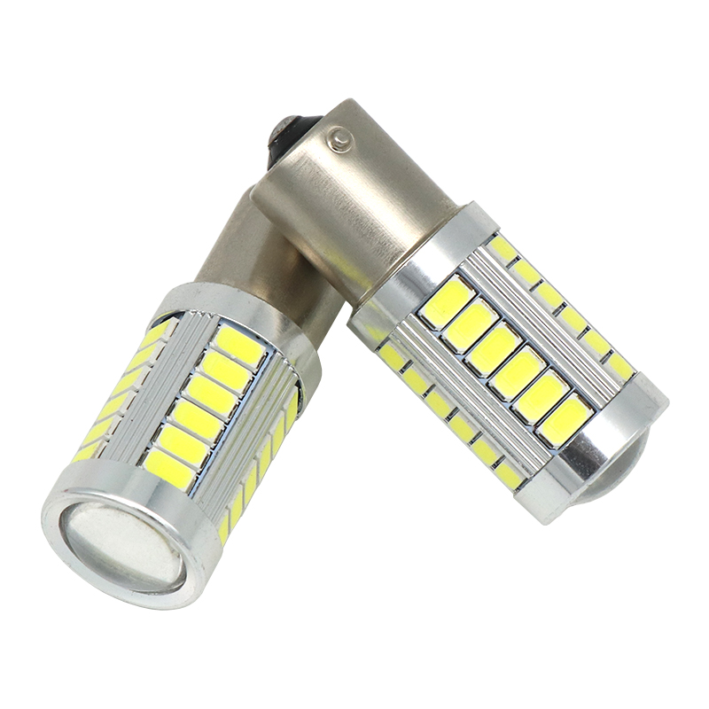 2pcs 1156 BA15S P21W 33 led 5630 5730 smd Car Tail Bulb Brake Lights auto Reverse Lamp Daytime Running Light red white yellow 2x s25 1156 bau15s py21w led 2835 chips car turn signal bulb brake lights auto reverse lamp daytime running light white amber