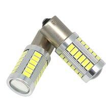 2pcs 1156 BA15S P21W 33 led 5630 5730 smd Car Tail Bulb Brake Lights auto Reverse Lamp Daytime Running Light red white yellow