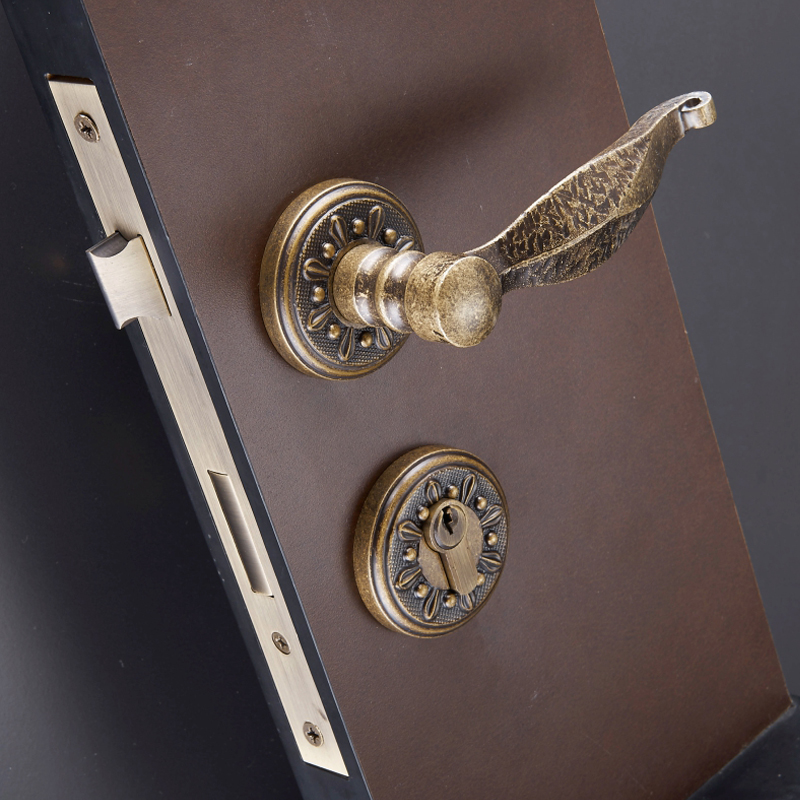 Exceptionnel EXPORTED CLASSIC FANCY ANTIQUE BRASS ROSSETTE DOOR HANDLES WITH LOCK BODY  AND CYLINDER  In Locks From Home Improvement On Aliexpress.com | Alibaba  Group