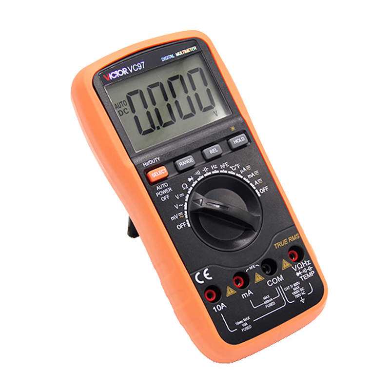 VICTOR VC97 Auto Range DMM AC DC Voltmeter Capacitance Resistance Digital Multimeter VS FLUKE15B ms8226 handheld rs232 auto range lcd digital multimeter dmm capacitance frequency temperature tester meters