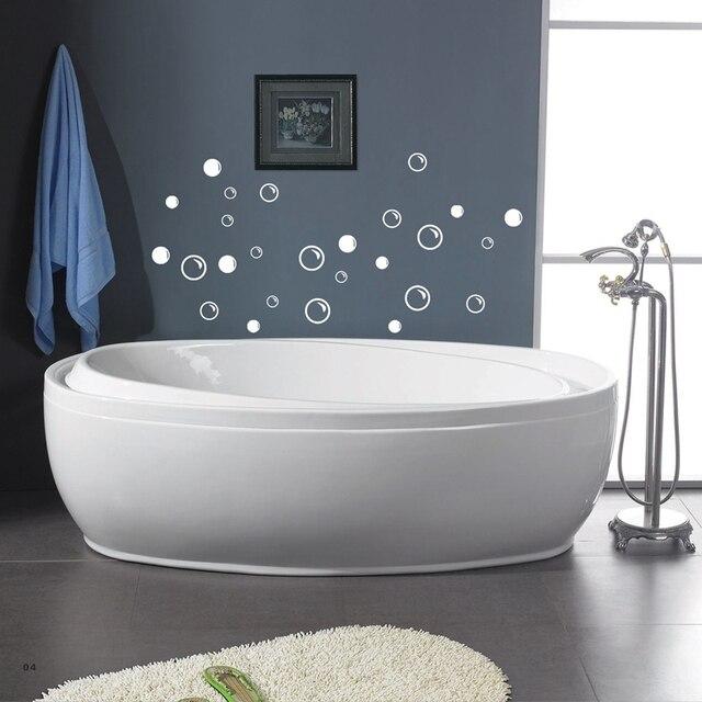 Freies Verschiffen Wasserdicht Bad Fliesen Aufkleber, 50 Seifenblasen  Badezimmer Dekor Wand Zitat Kunst Vinyl Aufkleber