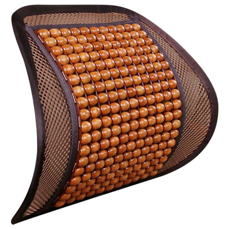 Summer Car Auto Seat Office Chair Lumbar Support Cushion Pad Wood Beads Massage Lumbar Pillow кабель hdmi van den hul ultimate 20 m