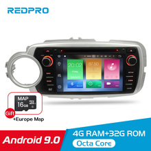 4G RAM IPS Android 9.0 Car DVD Radio GPS Multimedia Player For Toyota YARIS 2012-2017 Auto Audio Video 2 Din Stereo Navigation 8 core 4g ram android 8 0 car dvd multimedia radio player for kia picanto morning 2017 2018 stereo gps navigation fm video audio