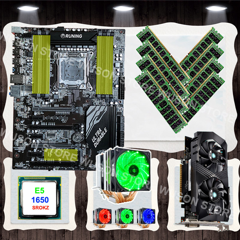Upgrade Old PC Runing X79 Motherboard With CPU Xeon E5 1650 C2 3.2GHz With Cooler Video Card GTX1050TI 4GD5 RAM 8*16G 1600 RECC