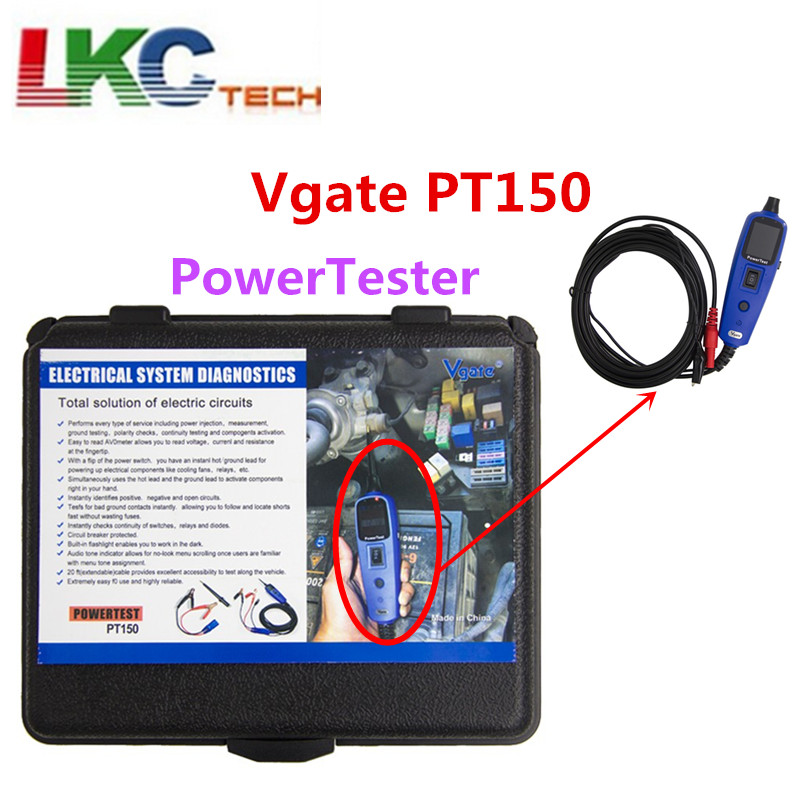 vgate powerscan pt150 car electric tester vgate pt150 multi functional automobile tester auto electrical system diagnostic tool Newest Power Test Vgate Pt150 12V Voltage Electrical System Tester Power Scan PT150 Same as Au-tek YD208 and Au-tel PS100