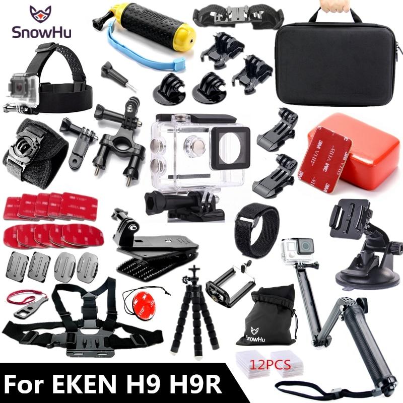 Acessórios 3 SnowHu para EKEN H9 H9R-forma Tripé Monopé kit para EKEN H9 Action camera Original Para EKEN acessórios GS57 H9