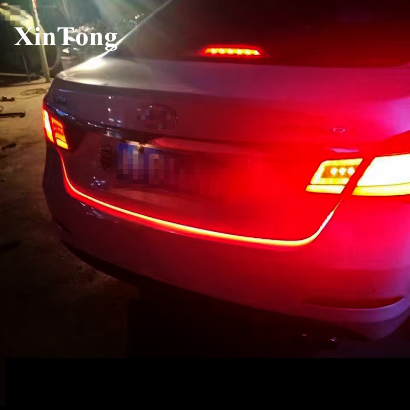 2017 New product Car LED Trunk Light Strip 120cm 5 Functions LED Moving Flash Warning Light Turn Signal Stop Signal Back