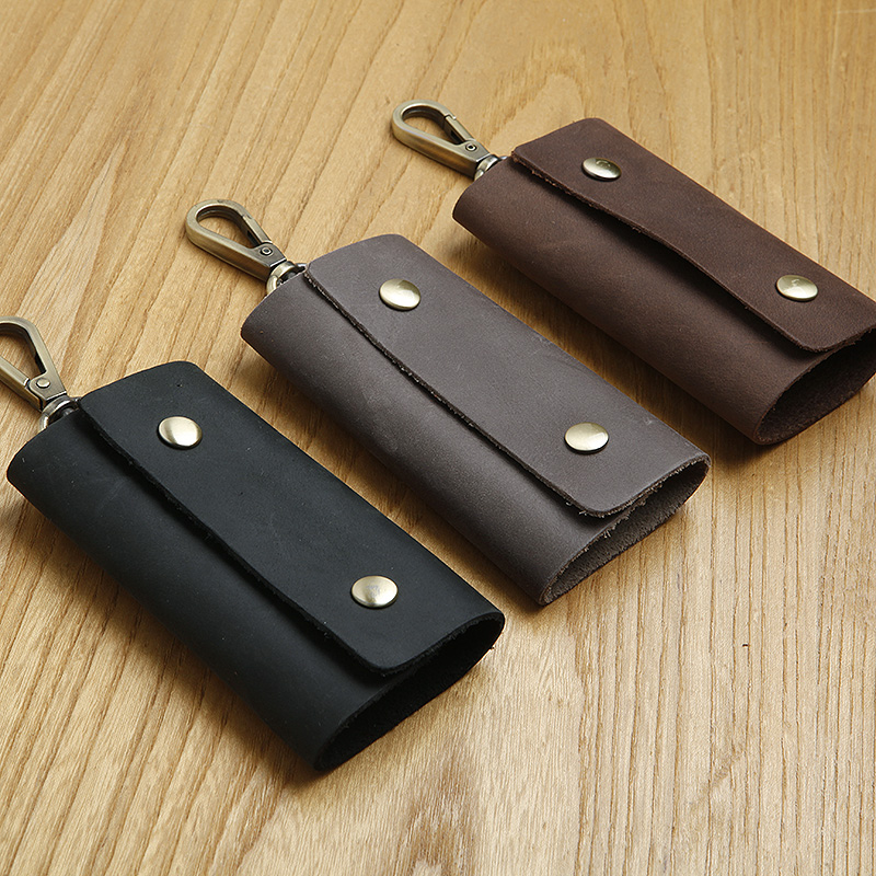 LAN Free shipping fashion cow leather key case leather key chain mens car key holders