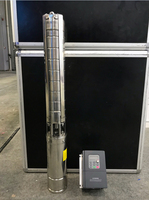 140m AC/DC solar water pump for irrigation permanent magnet synchronous motor solar powered fish pond pump MPPT pump solar