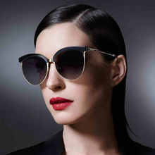 New Fashion Cat Eye Sunglasses Women Unisex Half Frame Brand Designer Sun Glasses Driving UV400 Aluminium Eyewear Oculos Gafas