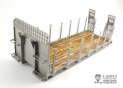 US $399 9 |LESU TAMIYA Hydraulic Flat Bed Ramp for 1/14 RC Tractor DIY Roll  On/Off Tipper Truck Car Model Metal-in RC Trucks from Toys & Hobbies on