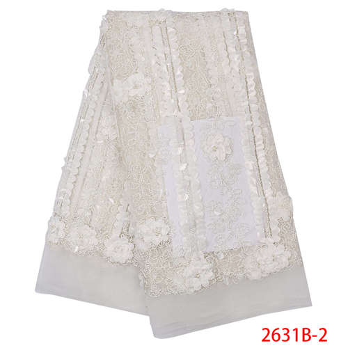 Nigeria Laces White High Quality Lace Fabric Tulle Embroidery French Lace Trim Embroidery Lace Fabric 2019 With Sequin QF2631B-2Nigeria Laces White High Quality Lace Fabric Tulle Embroidery French Lace Trim Embroidery Lace Fabric 2019 With Sequin QF2631B-2