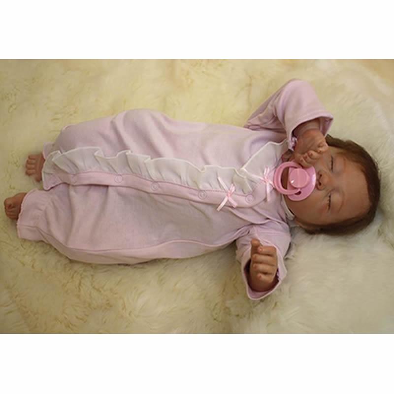 Lifelike Silicone Reborn Baby Dolls 20 Inch Newborn Babies Girl Princess Cloth Body Doll Toy With Clothes Kids Birthday Gift