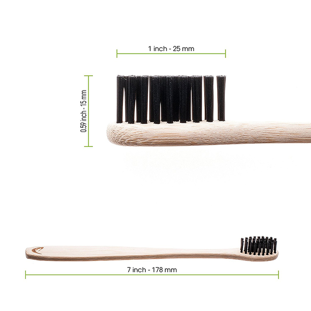 Bamboo Toothbrushes with Charcoal Bristles