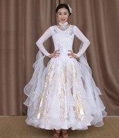 white standard dance dresses viennese waltz dress standard ballroom dress women swing dancing dresses modern dance clothes