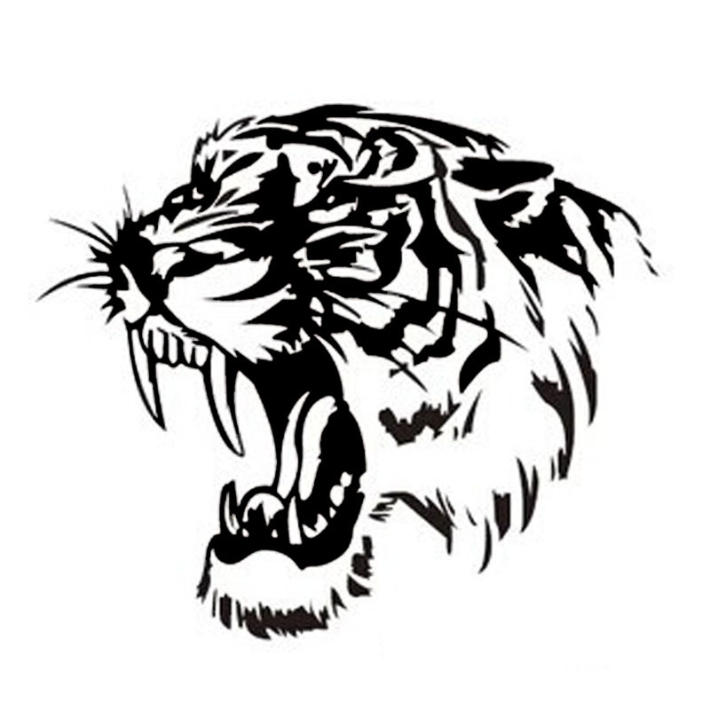 28*28CM Reflective Car Sticker Decals TIGER Head Hood Of ...