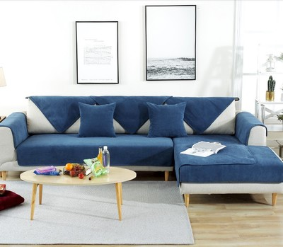 Velvet non slip waterproof sofa cushion waterproof and wear resistant hair pad in Sofa Cover from Home Garden