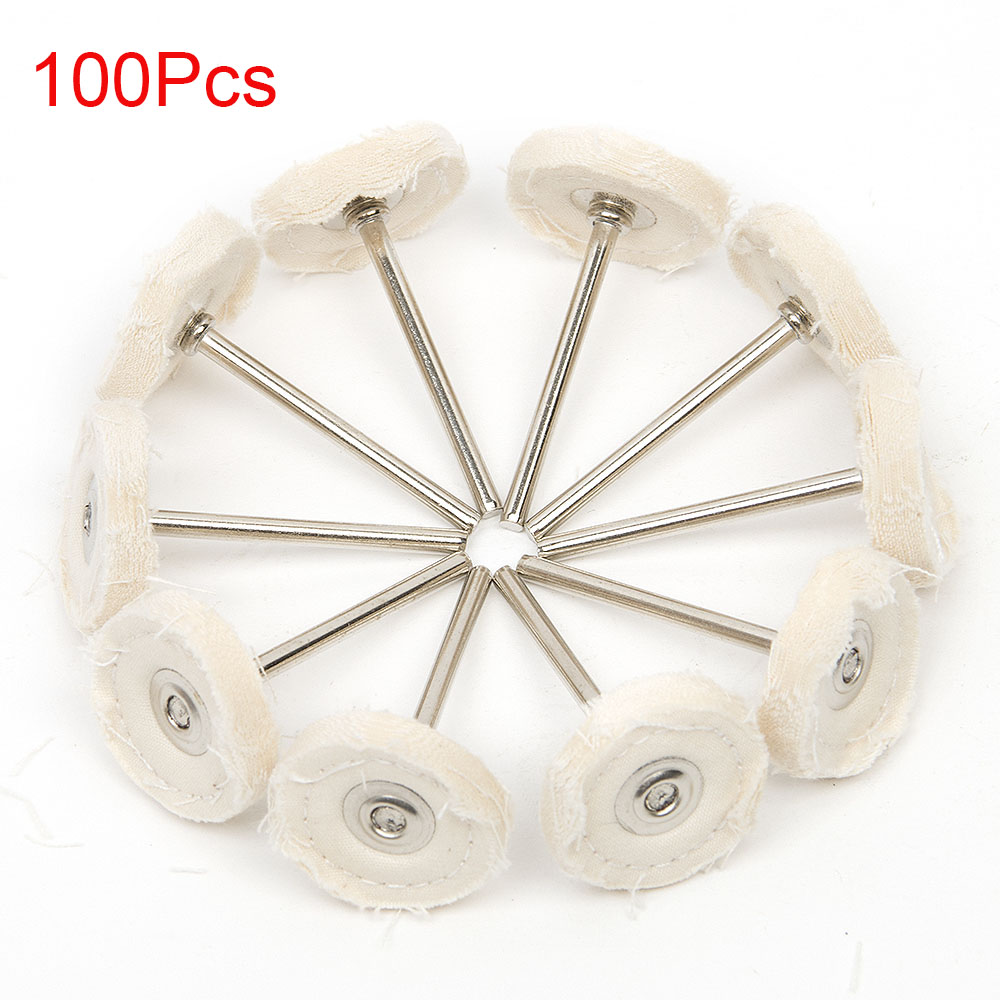 100Pcs Cloth Polishing Wheel Buffer Pad Cotton For Buff Dremel Accessory For Jewelry Mold Cavity Medical Equipmen Antique Bronze