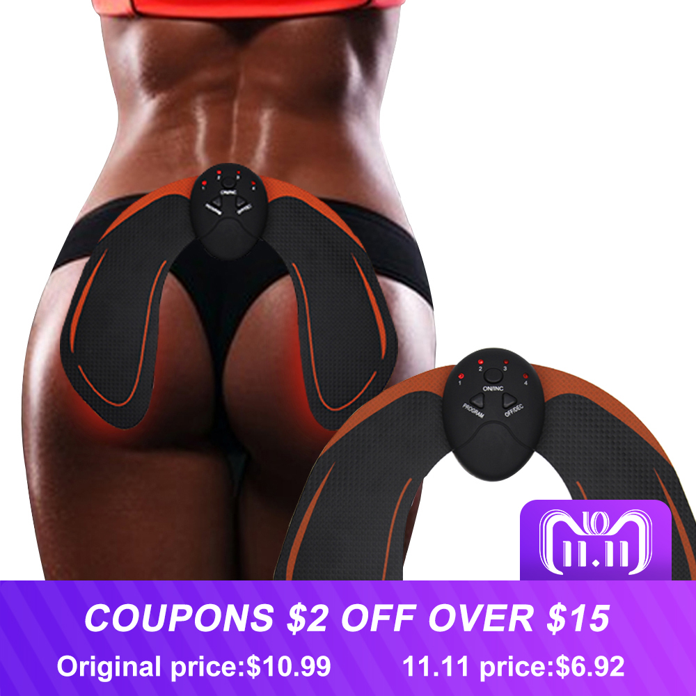 все цены на EMS Hip Trainer Muscle Stimulator ABS Fitness Buttocks Butt Lifting Buttock Trainer Slimming Massager Relaxtion Unisex
