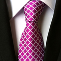 8 cm largura de moda de nova tie plum cor grids damas laço da gravata formal