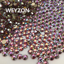 1440pcs/720pcs Packing New Faced (8 big + 8 small) ss20 (4.8-5.0mm) Rose AB color Nail Art Glue On No hotfix Rhinestone(China)
