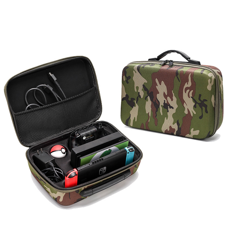 Yoteen Camouflage Bag For Nintendo Switch Carrying Case EVA Travel Bag For Console Dock Pro Controller Poke Ball Plus Controller-in Bags from Consumer Electronics