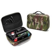 Yoteen için kamuflaj çantası Nintendo anahtarı taşıma çantası EVA seyahat çantası konsol Dock Pro denetleyici Poke topu artı denetleyici