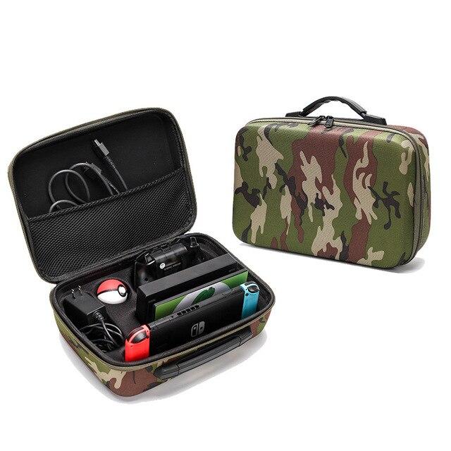 Yoteen sac de Camouflage pour Nintendo Switch étui de transport EVA sac de voyage pour Console Dock Pro contrôleur
