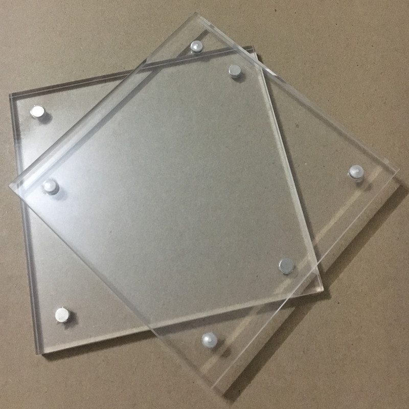 10 teile/los) Acryl Bilderrahmen 102x102mm Dicke 5 + 5mm Magnet Klar ...