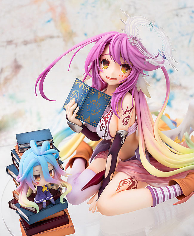 13cm Anime Game Of Life No Game No Life angel Jibril Scale Complete PVC Action Figure Model Collection Toy